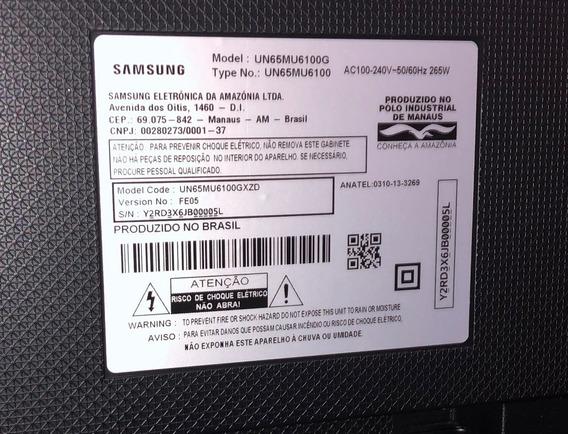 Smart Tv Samsung 65 4k Un65mu6100g Semi Nova