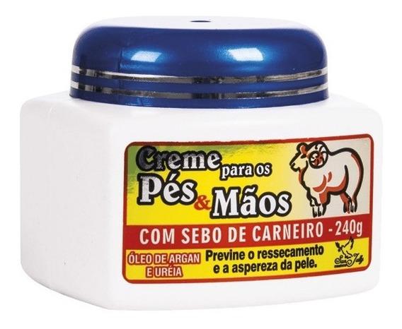 12 Creme Pés E Mãos Sebo De Carneiro 240g San Jully Full
