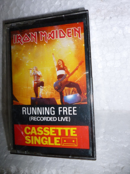 Fita K7 Single Iron Maiden Live Running Free 1985 England