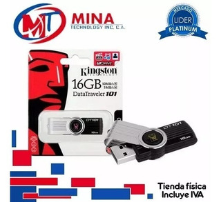 Pendrive Kingston 16gb 2.0 Totalmente Nuevo Datatraveler 101