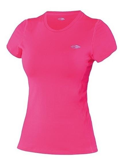 Camiseta Mormaii Body Fit Uv 50+ Rosa Neon Manga Curta