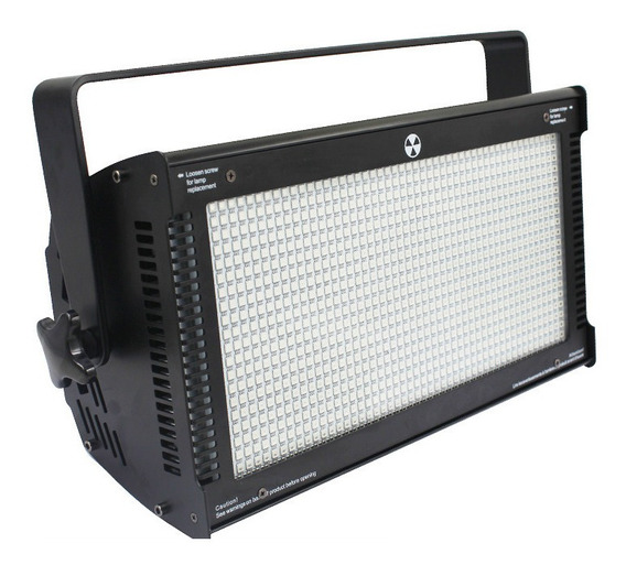 Super Strobo Atomic 3000 Led 1000w Dmx Flash Branco Bivolt