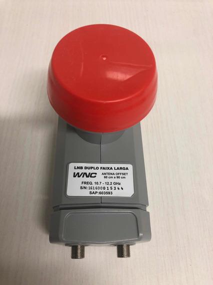 Lnb Duplo Faixa Larga Para Antena Offset De 60 Cm A 90 Cm