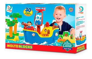 Barco Pirata Molto 8002 Bloques 30 Ps Lionels