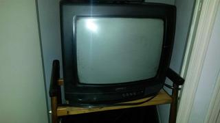 Tv Philips 14 + Remoto C/ Entrada Audio Y Video Una Joya!