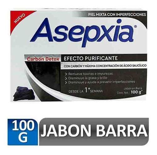 Asepxia Jabon Carbon Detox Efecto Purificante