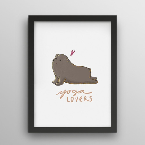 Imagem 1 de 2 de Poster - Yoga Lovers