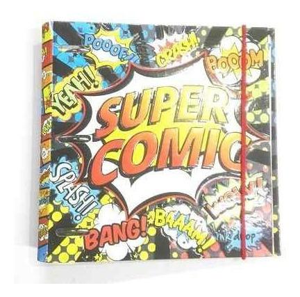 Carpeta Escolar N°3 Con Relieve 3 Aros X 40 Comics