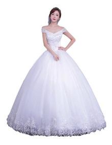Vestido Noiva Princesa Decote Com Saiote, Veu Luva 9013