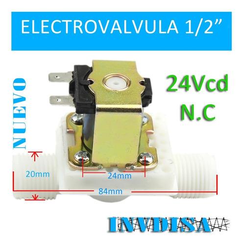 Imagen 1 de 1 de Valvula Solenoide 1/2 Electrovalvula 24vcd 24v - N U E V O