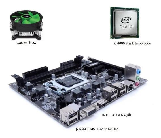 Kit Placa Mãe H81 + Cpu I5 4690 3,9 Ghz + Cooler