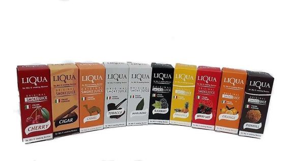 Esencias Liquido Vaporizador Liqua 10 Unidades Sin Nicotina