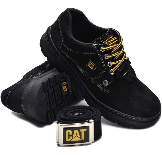 Sapato Tenis Sapatenis Caterpillar Em Couro Lançamento Envio