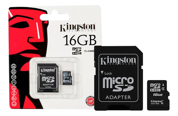Cartão Memória Microsdhc 16gb 80mb/s Kingston 3un
