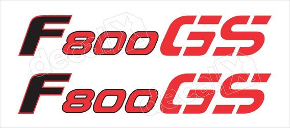 Emblema Adesivo Bmw F800gs 2009 Vermelha Par Bwf800gsve