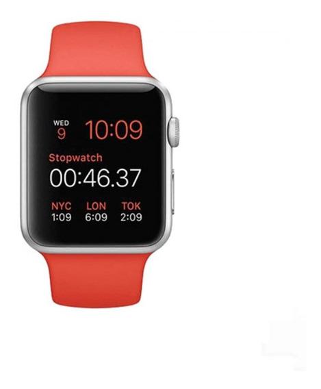 Extensible Silicon Correa Lisa Para Apple Watch Serie 1 2 3