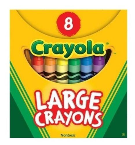 Crayola: Caja X 8 Crayolas Jumbo Tienda Oficial