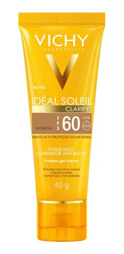Vichy Idéal Soleil Clarify Fps60 Morena - Protetor Solar 40g