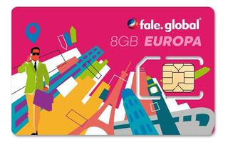 Chip Europa Com 8gb De Internet 4g - Viagens Até 14 Dias