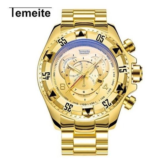 Relógio De Pulso Masculino Adulto Temeite 020g.