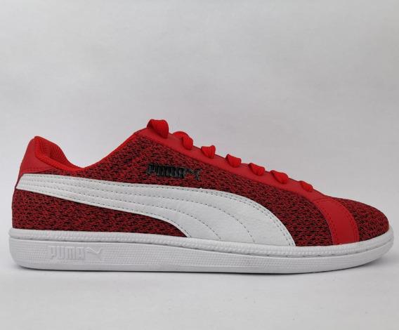 Tenis Puma Smash Knit - Vermelho - Casual
