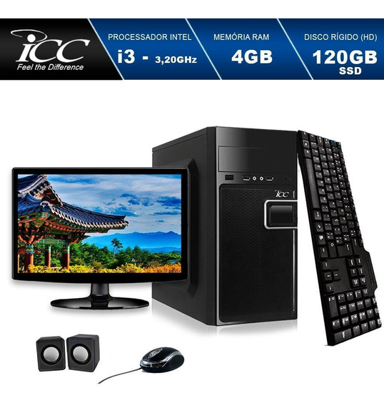 Computador Icc Core I5 3.20ghz 8gb Hd 120gb Ssd Led Hdmi.