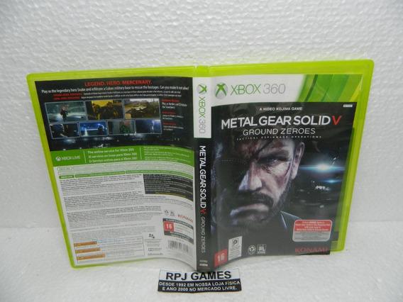Metal Gear Solid 5 Ground Zeroes Midia Fisica Caixa Xbox 360
