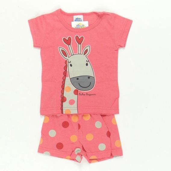 Pijama Infantil Bicho Bagunça Girafa