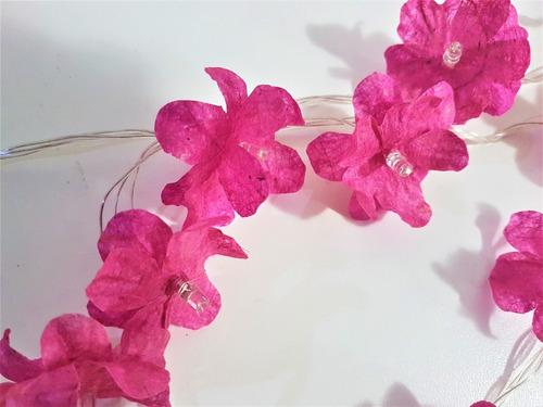 Luzes Decorativas Pisca Pisca De Led E Flores Artesanais
