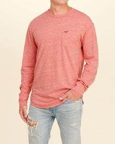 Camiseta Hollister Masculina Importada Henley 100% Original