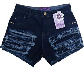 Shorts Jeans Feminino Plus Size Com Lycra 34 Ao 54
