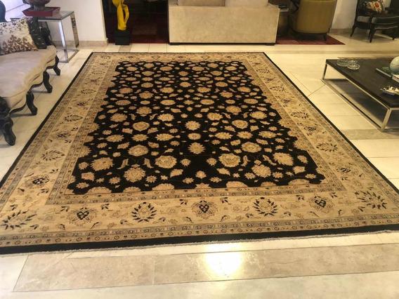 Tapete Paquistanês Feito A Mão 4,2x3,0 100% Lã Promocao