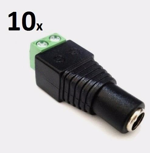 Conectores P4 Fêmea Com 2 Bornes Para Câmeras De Cftv Kit 10