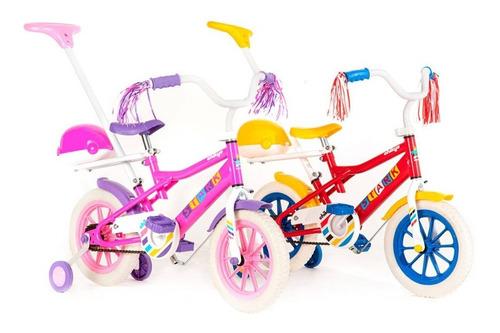 Imagen 1 de 5 de Bicicleta Infantil Stark Rodado 12 Chikys Manija Rueditas