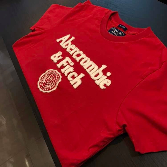 Camiseta Abercrombie Vermelha Clássica Original