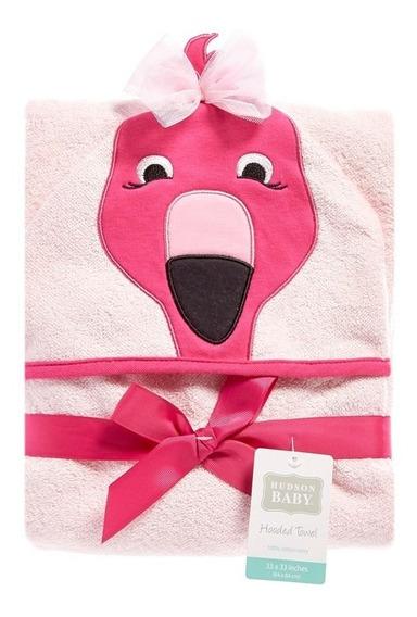 Toalha De Banho Com Capuz Rosa Flamingo