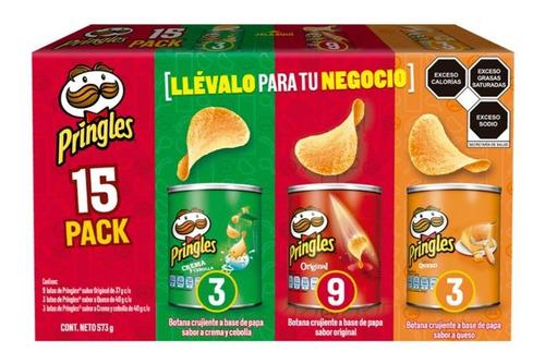 Imagen 1 de 3 de Pringles Mix Original Crema Y Queso 15pz De 37 Y 40 G C/u