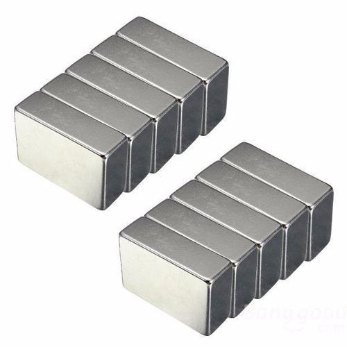 10 Imã Neodímio 30x20x10mm Suporta 13 Kg 3600 Gauss 30x20x10