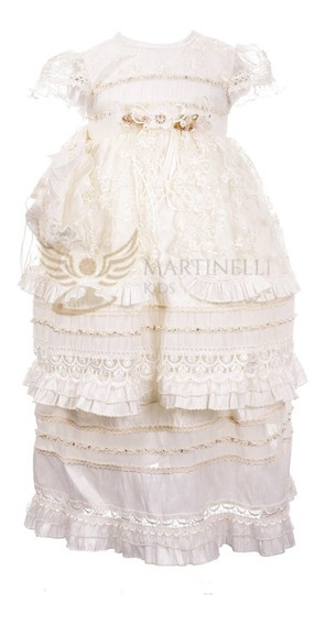 Ropon De Bautizo Exclusivo Para Niña Hermoso Martinelli Kids