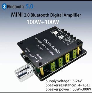 100wx2 Mini Bluetooth 5,0 Inalámbrico Amplificador De Audio