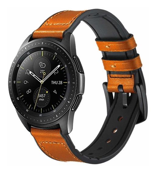 Pulseira Samsung Galaxy Watch 42mm E Active Silicone E Couro