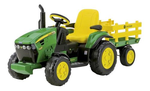 Mini Trator Eletrico Recarregavel John Deere Peg Perego