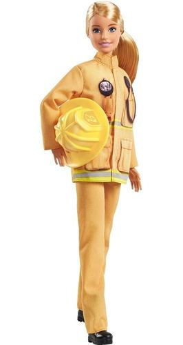 Muñeca Barbie Bombero Carreras 60 Aniversario Mattel Gfx29