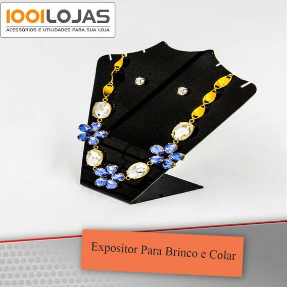 Expositor Joia Colar Brinco Acrílico Kit 4*
