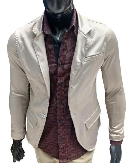 Blazer Masculino Slim Fit Jaqueta Casual Acetinado