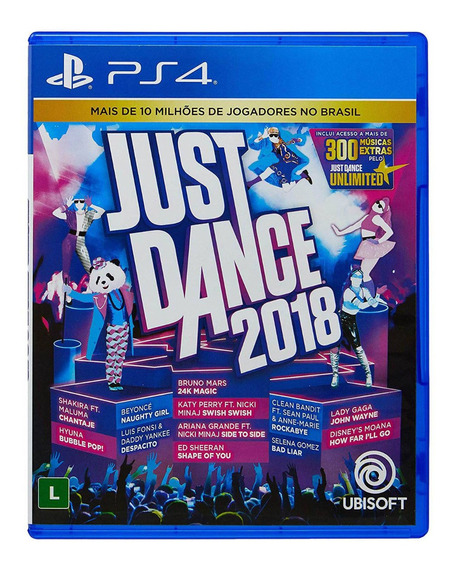 Just Dance 2018 Ps4 Mídia Física Lacrada
