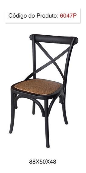 Cadeira Katrina Cross Paris Preta