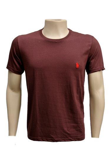 Camiseta Masculina De Algodão Colorida Basicas Original 6002