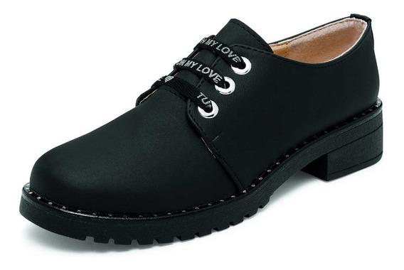 Zapato Cerrado De Agujeta Gost 743 Negro Para Dama
