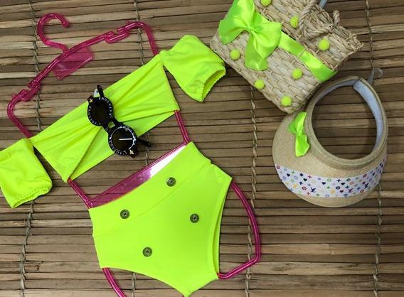 Biquíni Maio Body Infantil Neon